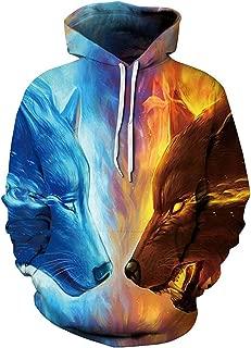 Unisex Galaxy 3D Printed Hoodies Pullover Sweathirts for Men