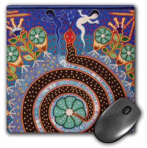 3dRose LLC 8 x 8 x 0.25 Inches Mouse Pad, Folk Art Huichol Art, Julien McRoberts (mp_92754_1)