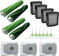 IOTdou Main Brush&Hepa Filters& Dirt Disposal Bags For Irobot Roomba I7 I7 I7 Plus E5 Vacuum Cleaner Accessories Grey