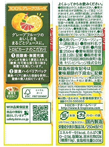 トロピカーナ100%グレープフルーツ250ml×24本