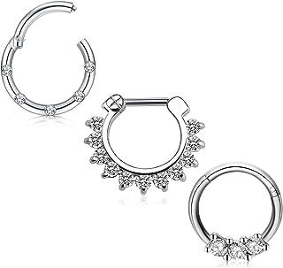 16pcs coloré en Acier Inoxydable Nez Cerceau Clous Étoile Ring 16 G Body Piercing