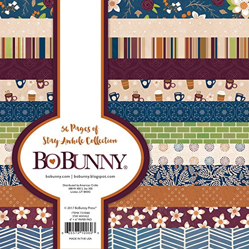 """Bo Bunny Stay Awhile Scrapbooking Paper, 6"""" x 6"""" -  American Crafts, 7310060"""