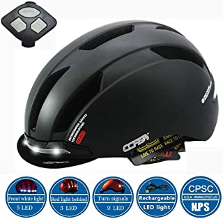 GIEADUN Smart Bike Helmet with Wireless Turn Signal Handlebar Remote and Built-in Motion Sensor CPSC and CE Certified Cycling Helmet