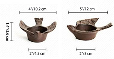 GemCave Rustic Bird Tealight Candle Holders Centerpiece for Dinner Table Home Decoration