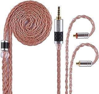 MMCX HifiHear - Cable para auriculares de aleación de cobre de 8 núcleos, mejora la calidad del sonido, cable de repuesto equilibrado para enchufe de 3,5 mm para Shure UE900 SE315 SE846 SE535 Fiio F9 LZ A4 A5, 2.5mm, MMCX