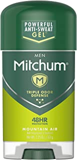 Mitchum Advanced Gel Anti-Perspirant & Deodorant, Mountain Air 2.25 oz (Pack of 4)