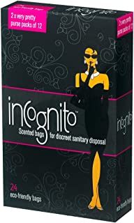 ICD Online Incognito Sanitary Disposal 24 Bags, 24 count, Pack of 24