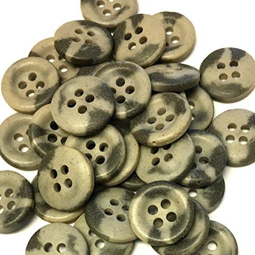 10 x 15mm bonte grijze hars knoppen