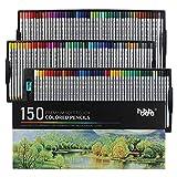 hhhouuu 150 lápices de colores Set, artistas profesionales A20 núcleo suave, para Adultos y Niños colorear libros,bosquejo,dibujo y pintura HO-P150