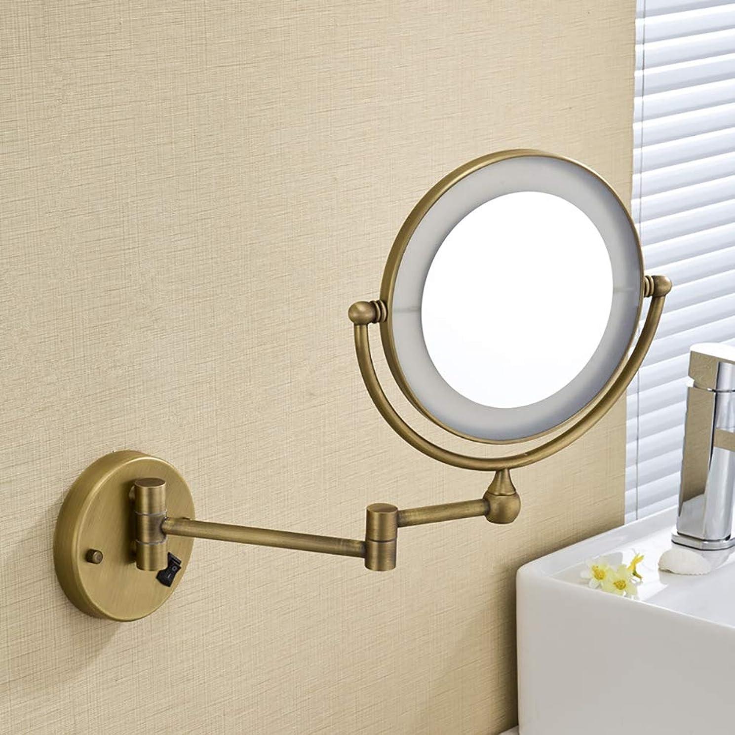 一口歩き回る。8インチウォールライト3倍拡大鏡ダブルが搭載されたメイクアップミラーは浴室360度回転するために拡張可能なミラーの両面