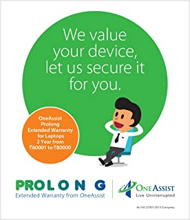 OneAssist-Prolong 2 Year Extended Warranty for Laptops from Rs 60001 to Rs 80000