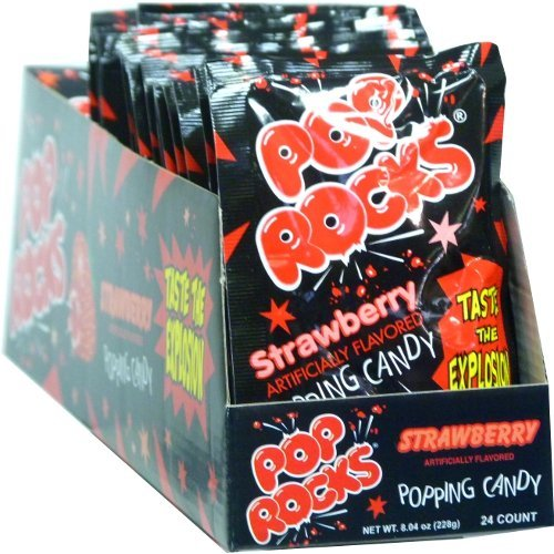 Pop Rocks Strawberry 0.33 oz Each (Pack of 24)