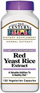 21st Century Red Yeast Rice Vegetarian Capsules 150 ea (Pack of 2)