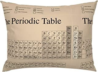 Roostery Pillow Sham, Chemistry Periodic Table Science Nerd Geek Math Steampunk Print, 100% Cotton Sateen 26in x 26in Knife-Edge Sham