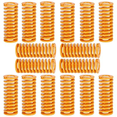 Extruder Strong Spring,8mm OD,25mm in Length,4mm ID,Hot Bed Glass Platform Leveling Spring,3D Printer Accessories Spring-16 Pcs (Yellow)