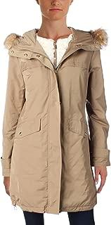 ELLEN TRACY Women's Water Resistant Faux Fur Trim Hooded Parka Coat