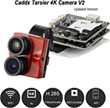 Caddx Tarsier V2 4K HD FPV Camera Upgraded 7G 12M 1200TVL Dual Lens Super WDR WiFi Mini FPV Camera HD Recording DVR Dual AUD OSD with ND8 Filter for RC Racing Drone Like Beta85X (Red)