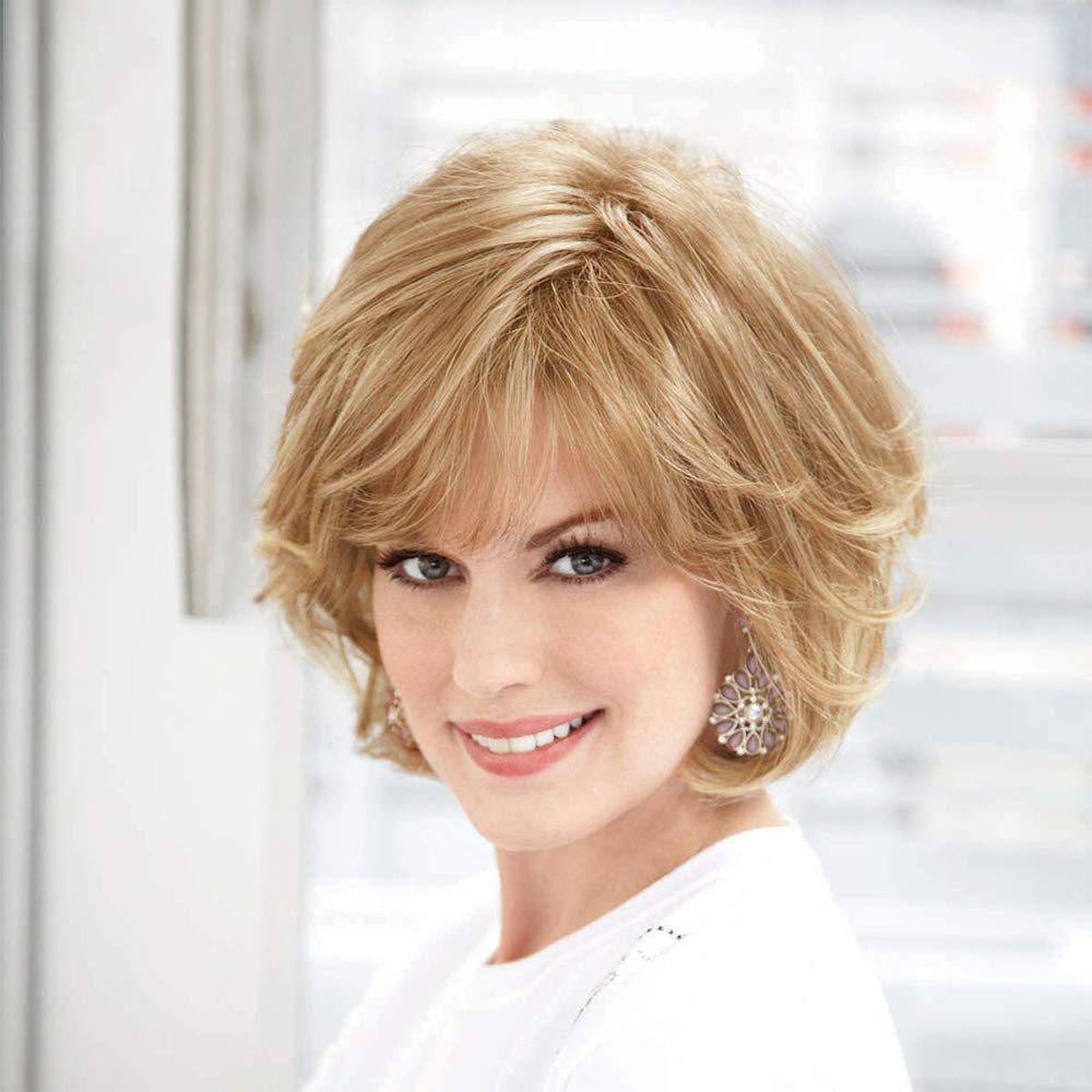 Trust Emmor Blonde Human Hair Wigs for Healthy Women Max 61% OFF Synthetic Mixed F