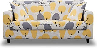 HOTNIU Printed Stretch Sofa Cover- 1 Piece Elastic Polyester Spandex Couch Covers- Universal Fitted Sofa Slipcover for Couch Furniture Protector (3 seat, Pattern SX)