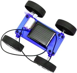 Lookatool Boy's 1 Set Mini Solar Powered Toy Diy Car Kit Children Educational Gadget Hobby Funny, Blue