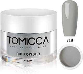 Tomicca Nail Dip Powder, Comet Streak Gray Colors, 2 oz, 56g, Natural Fast Dry, Acrylic Powder Without UV/LED Lamp Cured (718)