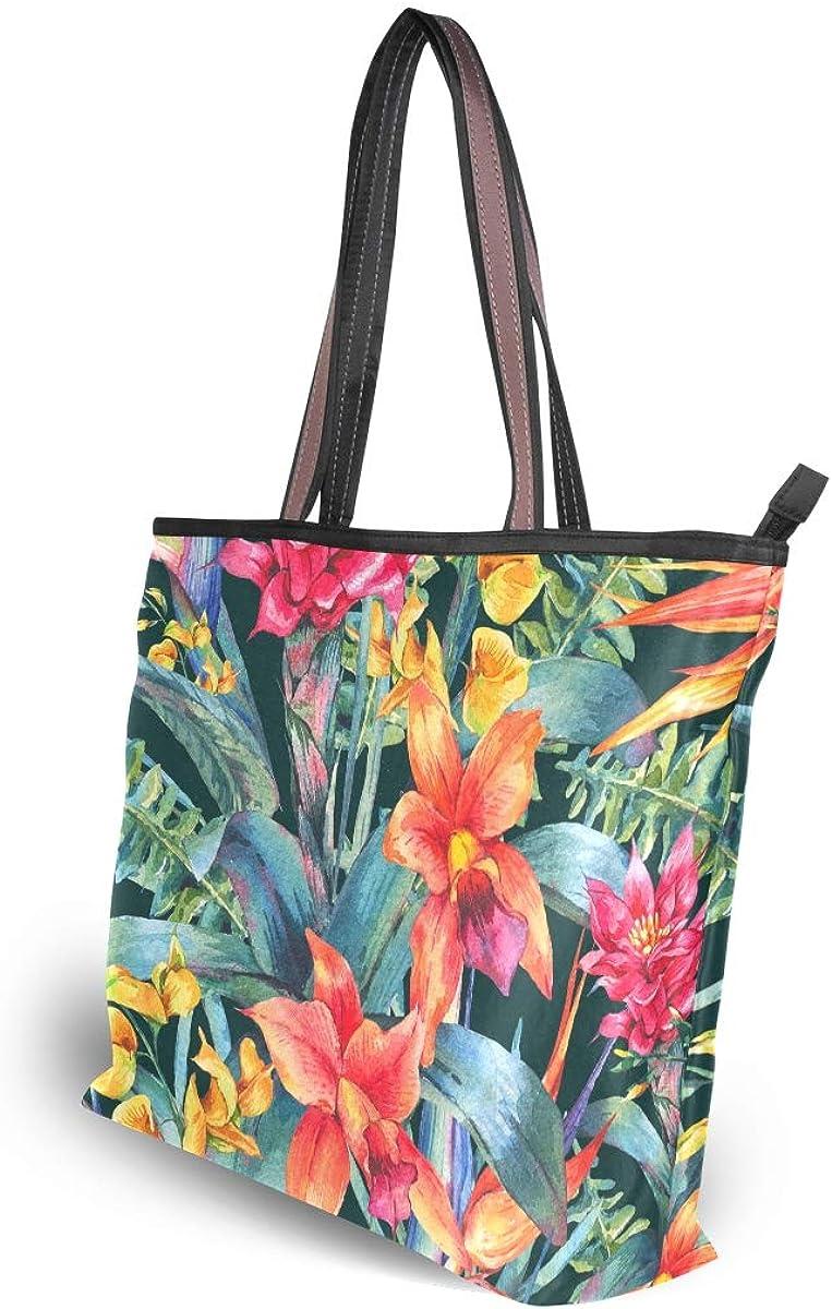MNSRUU Large Tote Bags for Women Polyester Shoulder Purse Beach Work Travel Handbag Vintage Floral