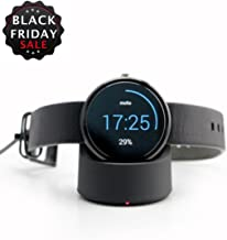 360 Watch Charger,Itian Wireless Charging Cradle for Motorola Mobility Moto360 1st and 2nd Gen/(AC Adapter not Included)-Black