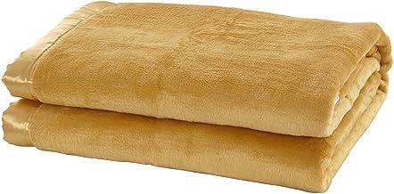 "Lilysilk 2051-02-TW Pure Long Strand Silk Blanket Throw, Twin(63""x82""), Yellow"