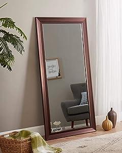 Naomi Home Framed Bevel Leaner Mirror 66
