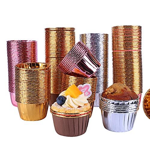 GiftPot 200 Pezzi Pirottini per muffin Pirottini di Carta Cupcake,Carta per Muffin per feste, matrimoni, feste di compleanno