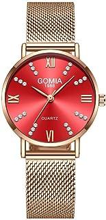 Orologi Da Donna Moda femminile orologio in acciaio inox cinturino in maglia in acciaio inox orologi da donna data quarzo ...