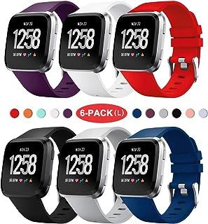 Yaspark Compatible con Fitbit Versa Correa/Fitbit Versa 2 Correa/Fitbit Versa Lite Correa/Fitbit Versa Special Edition Correa, 22mm Pulsera Reemplazo de Silicona Suave Deportiva Bandas