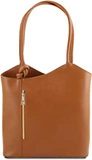 Tuscany Leather Patty Borsa donna convertibile a zaino in pelle Saffiano