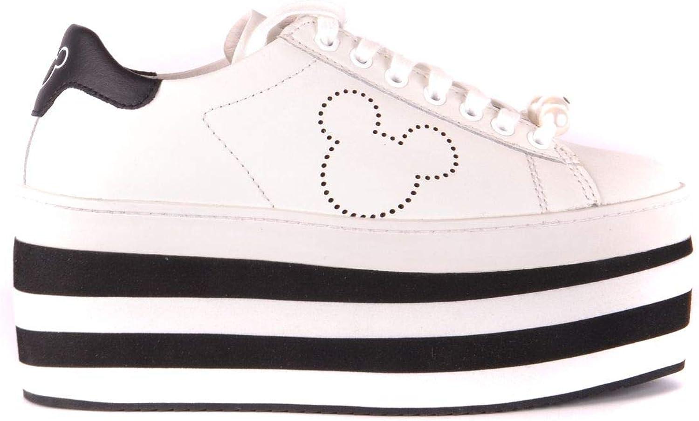 MOA Women's MCBI35315 White Leather Sneakers