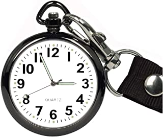 ساعت مچی جیبی GUOO Ultra Thin Bold Number باز برای مردان با ساعت دستبند کلیدی Unisex قابل حمل با کیف دستی جیبی Nurse Fob Watch