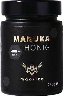 maorika - Manuka Honig 400 MGO  250g im Glas lichtundurchlässig, kein Plastik - laborgeprüft, zertifiziert aus Neuseeland