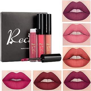 Coosa 6PCS Madly MATTE Lipstick Non-stick Cup Waterproof Lipgloss 6 Color Matte Velvety Liquid Lipstick