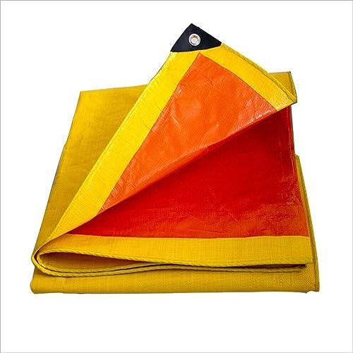 LYXPUZI Camion bache en Plastique Pare-Pluie Pluie Tissu électrique canopée à Trois Roues Orange bache imperméable bache de Prougeection Solaire