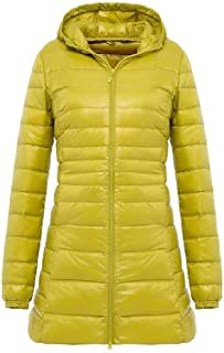 Macondoo Women Winter Hooded Lightweight Outwear Packable Puffer Down Coat