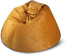 كرسي استرخاء من باجوزو روبي، مقاس كبير جدًا، حقيبة بلون ذهبي