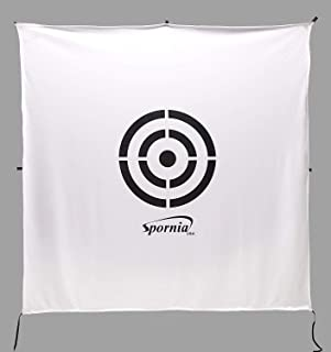 Spornia Golf Net Target (64 inches x 64 inches)   Circle Backstop Target   Golf Simulator Screen   Training Aid, Driving Range Target (2 in 1 Reversible)