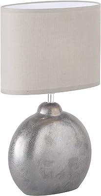 Fischer & Honsel 50243 Lampe de Table, Céramique, 40 W, Gris, 23 x 13 x 39 cm (LxBxH)