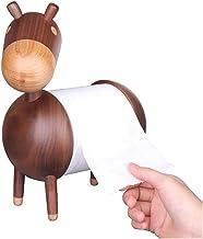 Wooden Paper Towel Holder Little Donkey Cartoon ambachten badkamer Rack Ornamenten Toiletrolhouder Living Room Kitchen (Co...