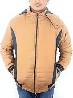 QnQ Men's BLack Quilted Jacket for Snow