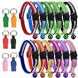 Nice2U 12 Piezas Ajustable Reflectante Collar de Seguridad para Mascotas y...