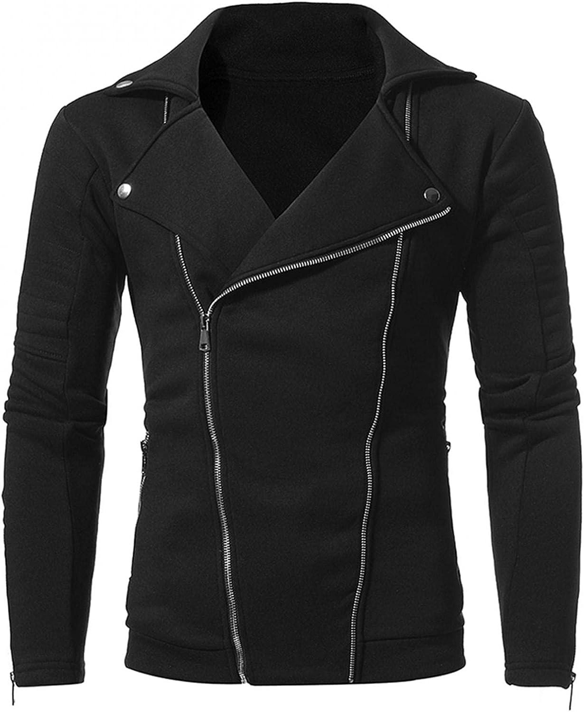 Huangse Motorcycle Jacket for Men Military Jacket Outdoor Lightweight Double Zip Casual Slim Fit Bomber Coat