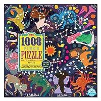 eeBoo Zodiac Glow in The Dark Jigsaw Puzzle for Adults, 1000 Pieces [並行輸入品]