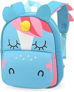 Mochila Infantil Maternal Unicornio Azul Bichinhos Tam P
