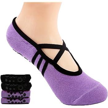 Qishare Calzini Yoga Pilates Trampoline Grip