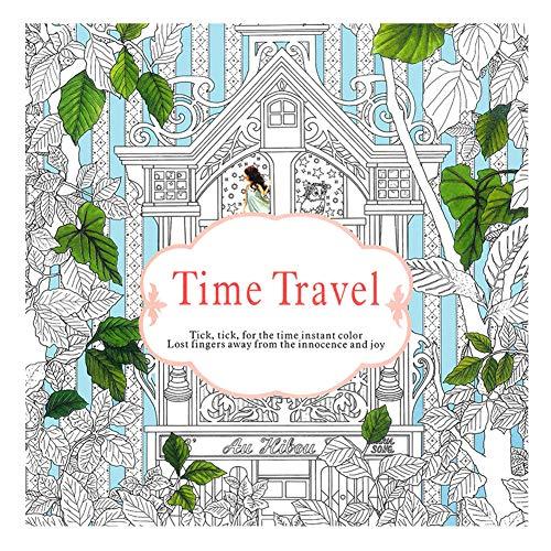 Livro de colorir DragonPad para adultos relaxamento, Jardim Secreto Adulto Descompressão Pintado à Mão Livro de Colorir Mandala Perdido Oceano, Viagem no Tempo